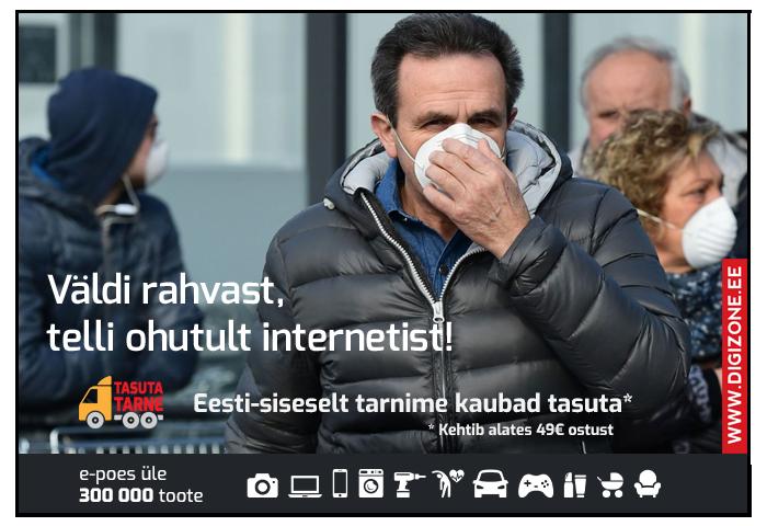 Väldi rahvarohkust, telli ohutult internetist!