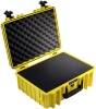 B&W kohver Outdoor Case Type 5000 vahtkummist toestusega kollane