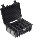 B&W kohver Outdoor Case Type 5000 + Padded Divider vaheriiuliga, must