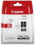 Canon tindikassett PGI-550 XL BK Twin Pack must