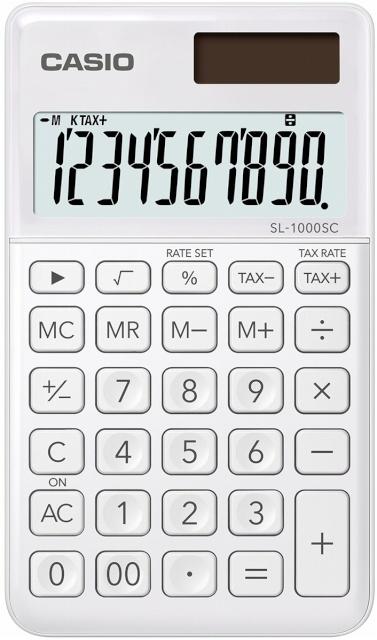 1d6ccf4082d Casio kalkulaator SL-1000SC-WE valge - Koolitarbed - Lapsed - Digizone