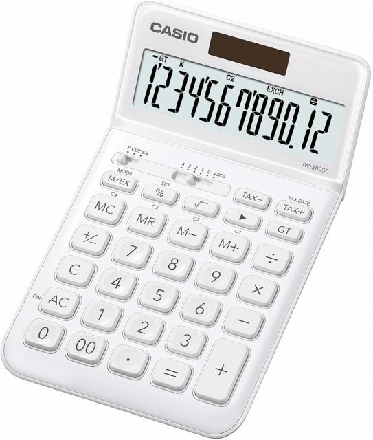 ea7a515f580 Casio kalkulaator JW-200SC-WE valge - Koolitarbed - Lapsed - Digizone