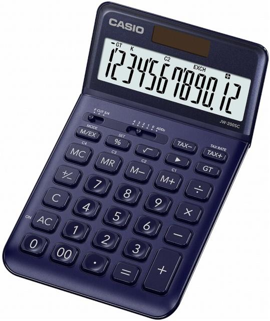 8e326b6f624 Casio kalkulaator JW-200SC-NY dark sinine - Koolitarbed - Lapsed - Digizone