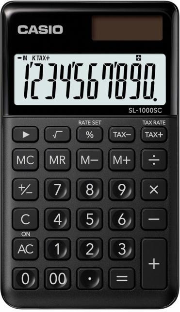 5cc4e851d32 Casio kalkulaator SL-1000SC-BK must - Koolitarbed - Lapsed - Digizone