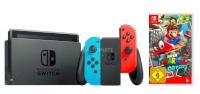 Nintendo mängukonsool Switch neon red / neon blue + Super Mario Odyssey