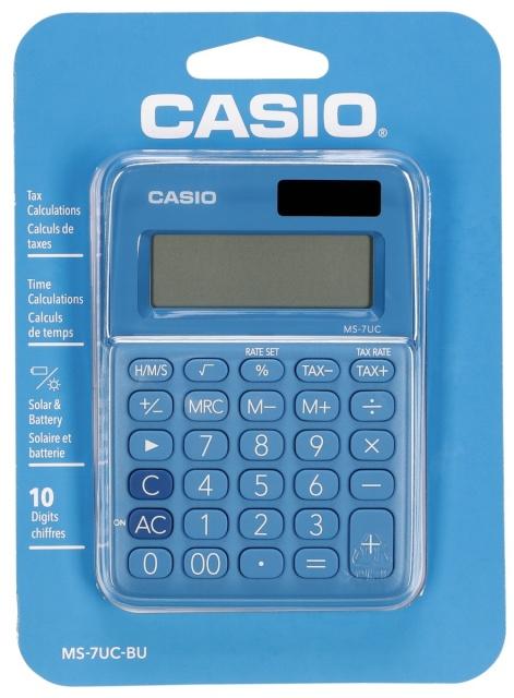 66ecdd16cea Casio kalkulaator MS-7UC-BU sinine - Koolitarbed - Lapsed - Digizone