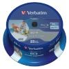 Verbatim toorikud BD-R Blu-Ray 25GB 6x Speed SL Wide Printable CB 25tk
