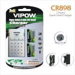 Vipow akulaadija CR-898 + 4x 2500mAh AA + 12V