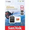 SanDisk mälukaart microSDXC Extreme 64GB Action A1 100MB/s + adapter