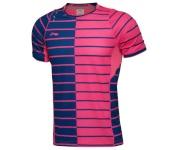 Li Ning meeste särk Thomas Uber Cup China National Team Mens Badminton Jersey, Pink/Dream Blue, XXL