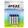Arcas patareid Super Heavy Duty AAA (LR03) 4-pakk