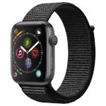 Apple Watch Series 4 GPS 44mm Space Gray Aluminum Case with Black Sport Loop