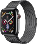 Apple Watch Series 4 GPS + Cellular 40mm Space Black Stainless Steel Case with Space Black Milanese Loop