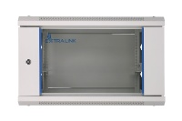 Extralink serverikapp Wall cabinet Rack 6U 600x450 must glass door