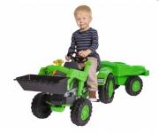 BIG pedaalidega traktor + käru, Jim Loader + Trailer | 800056516