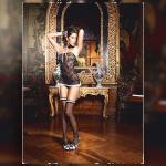 Baci Lingerie Prantsuse toateenindaja kostüüm, üks suurus Baci Lingerie E25248