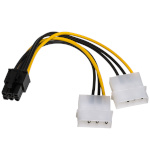 Akyga adapter 2x Molex / PCI-Express 6pin 15cm