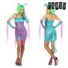 BGB Carnival Maskeraadi kostüüm täiskasvanutele Seksikas tulnukas Sinine (4 Pcs) Suurus XL