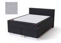 Sleepwell kontinentaalvoodi BLACK CONTINENTAL AIR-POCKET, 160x200cm, helehall, pehme/pehmem