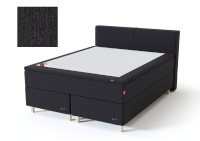 Sleepwell kontinentaalvoodi BLACK CONTINENTAL AIR-POCKET, 160x200cm, must, pehme/pehmem