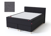 Sleepwell kontinentaalvoodi BLACK CONTINENTAL AIR-POCKET, 180x200cm, tumehall, pehme