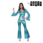 Maskeraadi kostüüm täiskasvanutele Disco Läige Sinine Suurus M/L