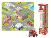 ASKATO 105826 Floor mat with a fire brigade car