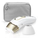 Braun fotoepilaator Silk-expert Pro 5 IPL PL5117 White/Gold + täpsusotsik, Gillette Venus raseerija ja kosmeetikakott