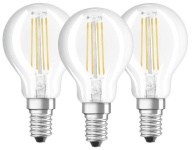 Osram LED pirn Ledvance BASE Clear P Filament 40 non-dim 4W/840 E14, 3-pakk