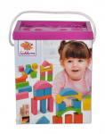 Eichhorn puidust klotsid Colored blocks in a bucket 75 pcs