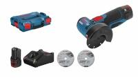 Bosch nurklihvija GWS 12V-76, 2x GBA 12V 3.0 Cordless Angle Grinder juhtmevaba