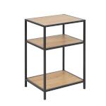 H4Y Abilaud SEAFORD 42x35xH63cm, 2-riiuliga, riiulid: lamineeritud kattega mööbliplaat, värvus: tamm, raam: must metall