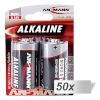 Ansmann patarei 50x2 Alkaline Mono D LR 20 punane-Line