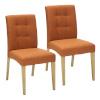 H4Y Toolid 2tk ENRICH 46x57xH87cm, iste ja seljatugi: kangas, värvus: oranž, puit: kummipuu, värvus: tamm, lakitud
