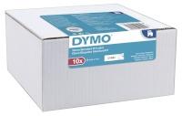 Dymo etiketiprinteri etiketid D1 Schriftband 12mm x 7m, must valgele, 10-pakk