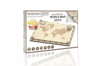 Wooden City pusle WM507 World Map Expedition Series Dots