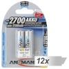 Ansmann patarei 12x2 Ansamann bat. 2700 Mignon AA 2500 mAh