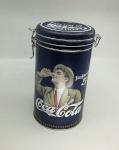BGB Coca-Cola metallpurk Vintage-Stiilis, tumesinine