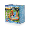 Bestway inflatable pool with slide volcano