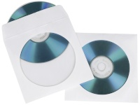 1x100 Hama CD/DVD Paper Sleeves valge SK 51174