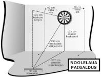 Catdart elektrooniline noolemäng Karella CB-50 LCD