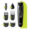 Braun habemepiiraja, juukselõikur, nina- ja kõrvakarvalõikur, 6-in-1 Beard Trimmer MGK3220