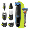 Braun habemepiiraja ja juukselõikur All-in-one trimmer MGK5245, 7in1 trimmer, 5 attachments + Gillette Fusion ProGlide raseerija