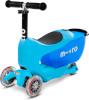 Micro tõukeratas Mini2Go Deluxe Blue, sinine
