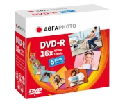 Agfaphoto toorik 1x5 AgfaPhoto DVD-R 4,7GB 16x Speed, Jewel Case