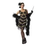BGB maskeraadi kostüüm täiskasvanutele Charleston Must, Suurus XL