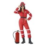 BGB maskeraadi kostüüm täiskasvanutele Tuletõrjujanna, Suurus M/L