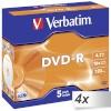 Verbatim toorik 4x5 Verbatim DVD-R 4,7GB 16x Speed, Jewel Case