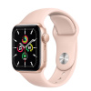 Apple Watch SE GPS, 44mm Gold Aluminium Case with Pink Sand Sport Band