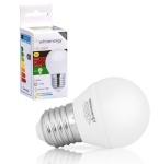 Whitenergy LED pirn LED bulb E27 10 SMD3528 5W 230V warm white sphere G45